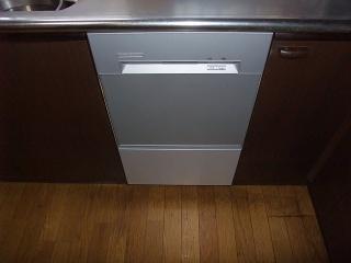ハーマン ビルトイン食洗機 FB4515PMS 施工後